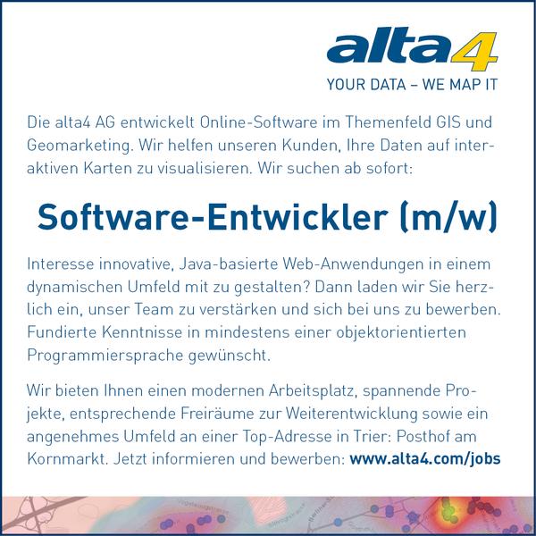 alta4 AG - Jobs & Praktika Tabinhalte